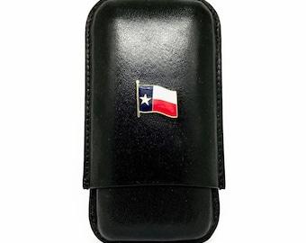 Texas Flag Cigar Case – Color