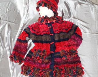sweater, coat, 4, hand knitted