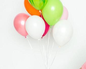 Signature ballon ensemble - Tutti Frutti - fruits brillants de couleur Bouquet de ballons - ballons Party de fruits d'été