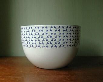 Finel Kaj Franck Enamel Bowl - Danish Modern Large Clover Pattern Enamelware By Arabia of Finland