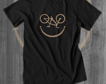 Bikey Face Bicyling T shirt bicycling tops and tees t-shirts t shirts| Free Shipping