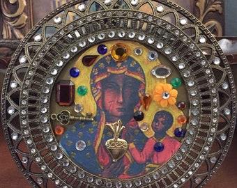 Black Madonna altar image
