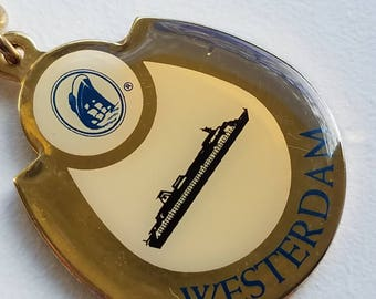 Classic Westerdam Cruise Ship Keychain