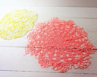 Vintage Hand Crochet Doilies