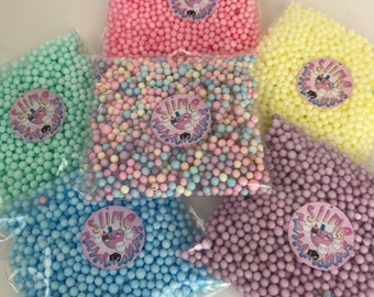 Pastel Foam Beads 8oz