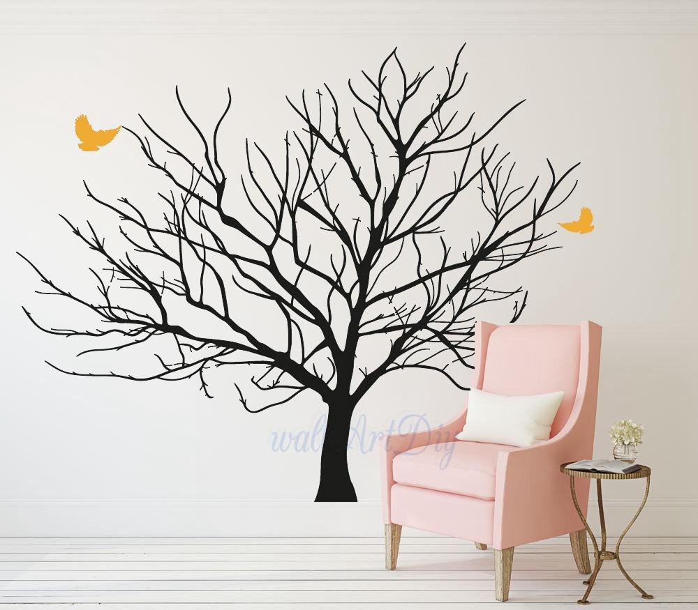 Decalcomanie da muro di albero gigante inverno albero muro - Albero su parete ...