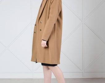 Cashmere Coat, Camel Coat, Wool Coat, Winter Coat, Duster Coat, Wool Jacket, Long Coat, Winter Jacket, Cocoon Coat, Oversized Coat