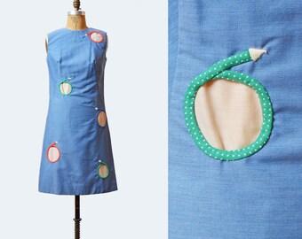 Vintage 60s Mini Dress Polka Dot Cut Out Dress Mod Shift Dress Twiggy 1960s CUTWORK Dress Space Age Gogo Cutout Sleeveless Blue White Medium
