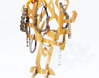 Wooden tree - Jewelry stand, Jewelry organizer, Jewelry storage, Jewelry display, Wooden jewelry holder