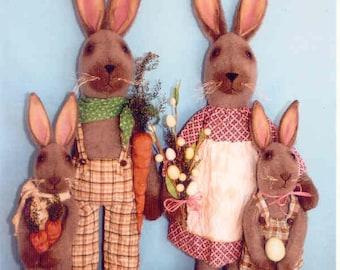 Primitive Bunny PATTERN , Country Bunny Family