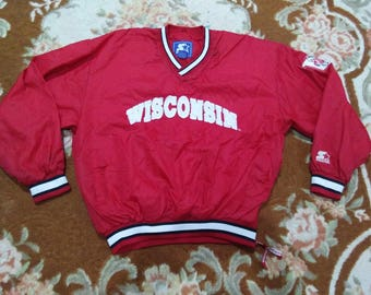 vintage WISCONSIN SWEATER EMBROIDERED by starter size L