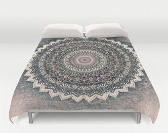WARM WINTER MANDALA - Boho Duvet Cover