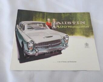 1960 ? Austin A99 Westminster Sales Brochure Catalog
