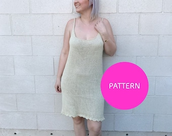 PATTERN ONLY *** BB Cutie Scalloped Dress, knit dress pattern, summer dress, knit dress, knit dress with scallops, knit dress how to