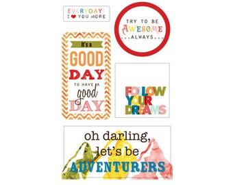Glitz Design Color Me Happy Title Stickers -- MSRP 4.00