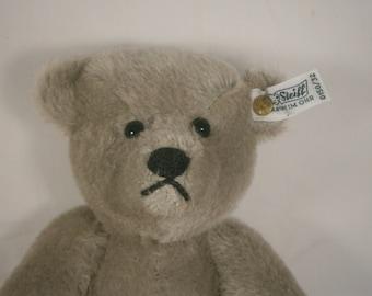 Steiff Teddy Bear /  Limited Edition Bear / Silver Growler Teddy Bear In Original Box / 1902 Replica / 1983