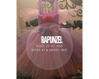 Rapunzel inspired Tutu dress, Tangled Costume tutu dress, Purple Princess Tutu Costume, baby girl costume