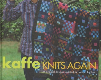 Kaffe Knits Again Knitting Book by Kafee Fassett (hardcover)