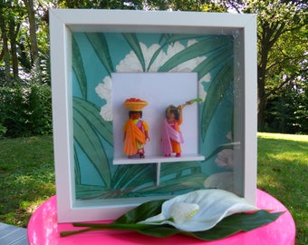 "Playmobil frame ""Indian girls"""