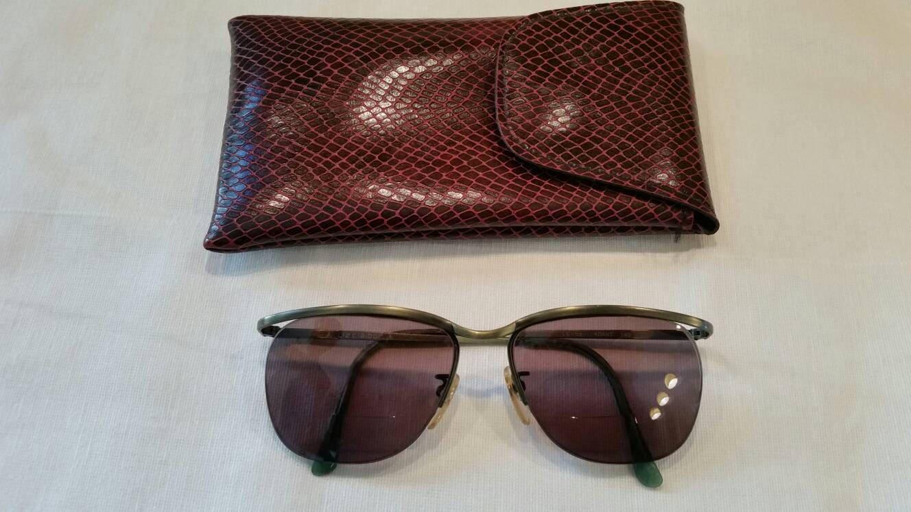 Vintage 90s sunglasses bronze and green frames bifocals