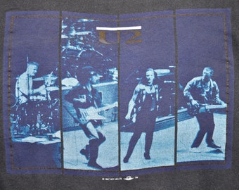 Vintage 80s 1987 U2 THE JOSHUA TREE Rock Concert Tour T Shirt Mens Small S Medium M Very Rare