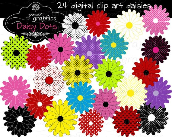 Items similar to Flower Digital Clip Art Flower Clipart ...