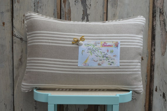 Bahamas Postcard Pillow  (available in 3 styles and 2 prices)