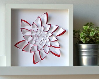ALOE - Table in cut paper inspiration aloe, ideal for decoration, modern graphics, embossed, personalized gift