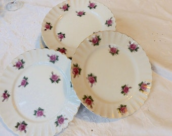 Bond Ware Hand Painted Dessert Plates