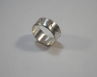 When the wind blows ring handmade in 925 silver