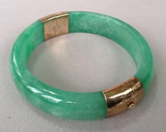 Sale* Jade 14K GP Bangle Bracelet