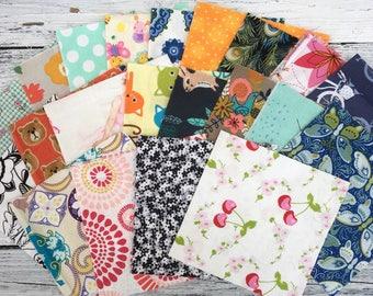 "Random cotton Prints 5"" Charm pack"
