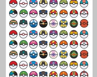 Pokeball Stickers Erin Condren Life Planner Plum Paper Planner Pokemon Stickers Pokemon Party Pokeball Planner Stickers