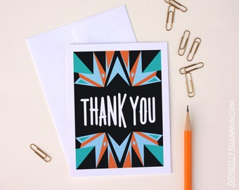 Blank Thank Yous, Thank You Card Set, Thank Yous, Cute Thank You Cards, Stationery Set A2 Set of 8 Greeting Cards
