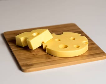 Cheese shaped soap