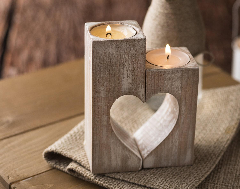 Description. Wooden candle holders Rustic ...