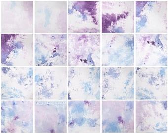 74 Jewel Tone Watercolor Texture Digital Paper Purple Blue