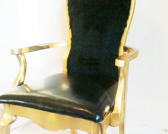 Gold Fur style chair - SOLD can make replica