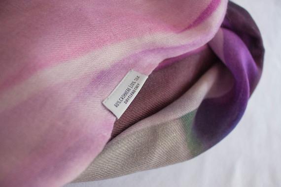 Cashmere Silk Scarf - Colour wash flowers by VIDA VIDA eBqw8Avl