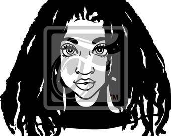 Focsi Woman with Locs 2 SVG