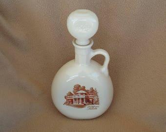 Vintage Glass Souvenir Decanter and Stopper