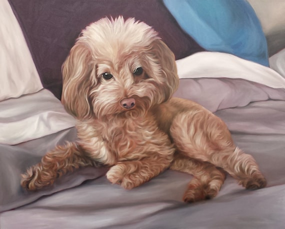 CUSTOM PET PORTRAIT - Pet Painting - Oil Painting - Unique Gift - Dog Portrait