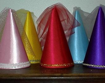 Assortment of 5 Medieval Renaissance Princess Cone Hats