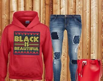 Black is Beautiful Hooded Sweatshirt! Black History Sweater! Black History Month!