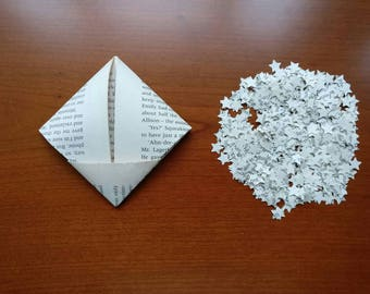 Book Page Star Confetti