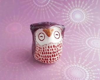 Maggie the Owl Handmade Figurine