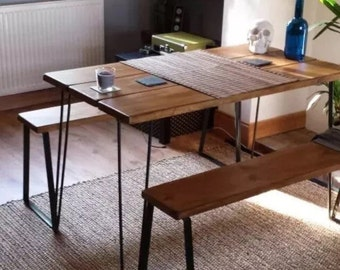 Rustic Table And Benches