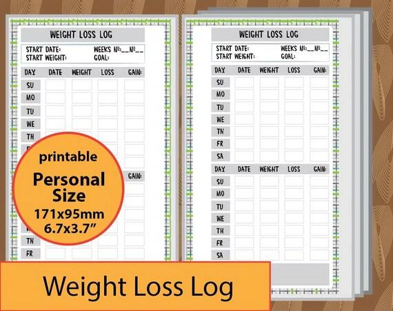 weight loss log