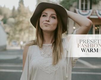 Fashion Warm - Single Preset - Adobe Lightroom Preset for 4, 5, 6 and CC
