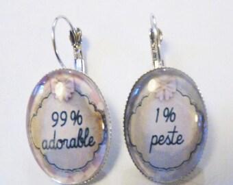 Plague earrings